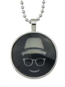 Round Skull Pendant Necklace