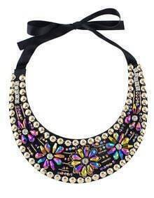 Colorful Beads Flower Collar Necklace
