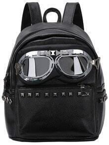 Studded Aviator Sunglasses Featured Backpack