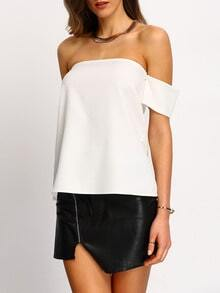 Elastic Off-the-shoulder Blouse