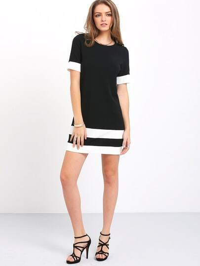 Short black and white dresses images
