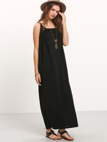 Black Halter Maxi Beach Dress
