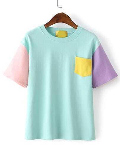 Color-block Pocket T-shirt