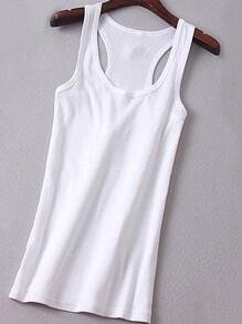 Y-Back White Tank Top