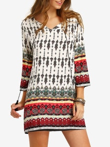 robe motif tribal -multicolore