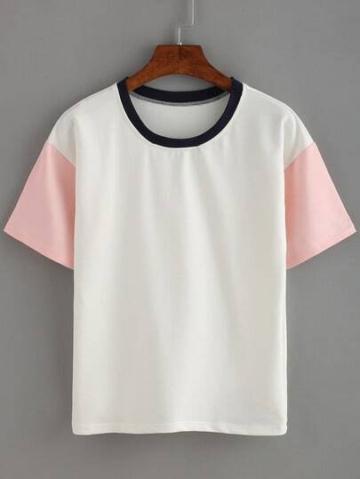 Contrast Short Sleeve T-shirt