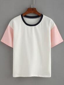 Contrast Short Sleeve T-shirt