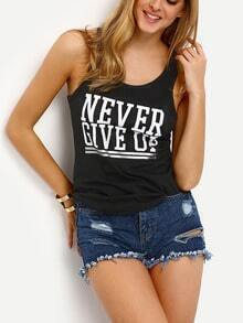 Letters Print Tank Top