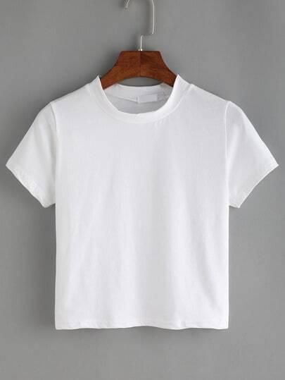 White Crew Neck T-Shirt