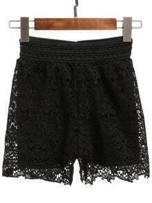 Elastic Waist Lace Shorts