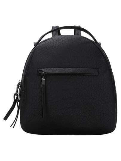 Embossed Mini Backpack With Handle