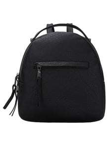 Embossed Mini Backpack With Handle -SheIn(Sheinside)