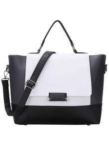 Color Block Trapeze Crossbody Bag