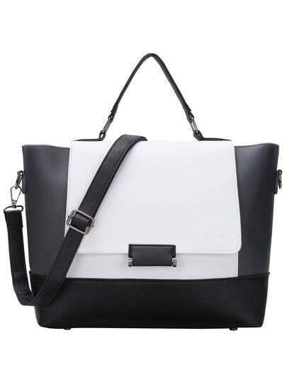 Color Block Trapeze Crossbody Bag