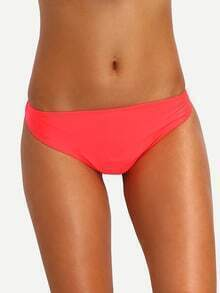 Fluorescent Orange Low-Rise Bikini Bottom