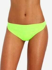 Fluorescent Yellow Low-Rise Bikini Bottom