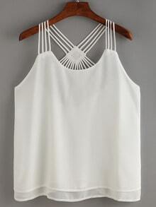 Hollow Out Layers Chiffon Cami Top