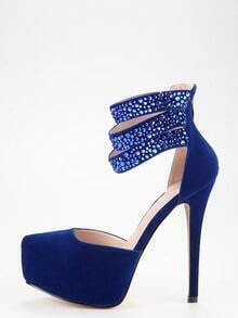 Blue Ankle Cuff Platform D'orsey Pumps