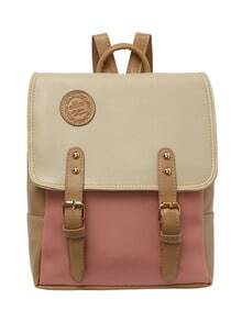 Color Block Satchel Backpack -SheIn(Sheinside)