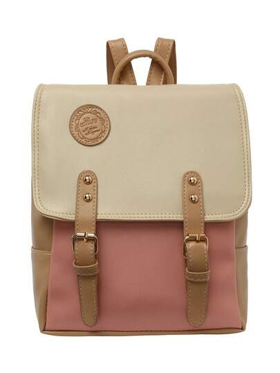 Color Block Satchel Backpack
