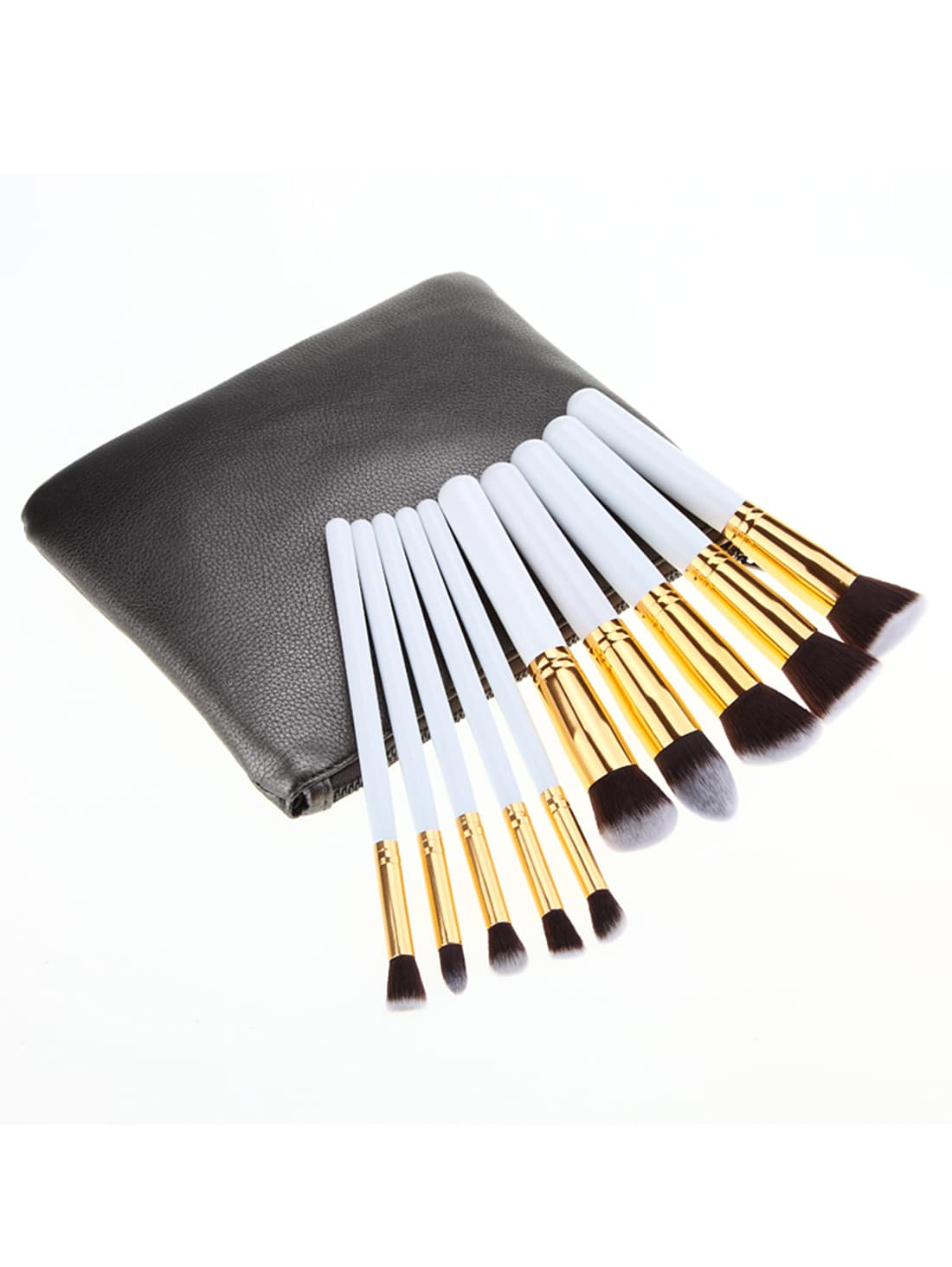 Image of 10PCS Make Up Bush Set With Bag - White