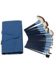 24PCS Make Up Bush Set With Bag - Blue