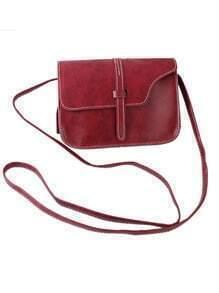 Winered Pu Leather Straps Shoulder Bag