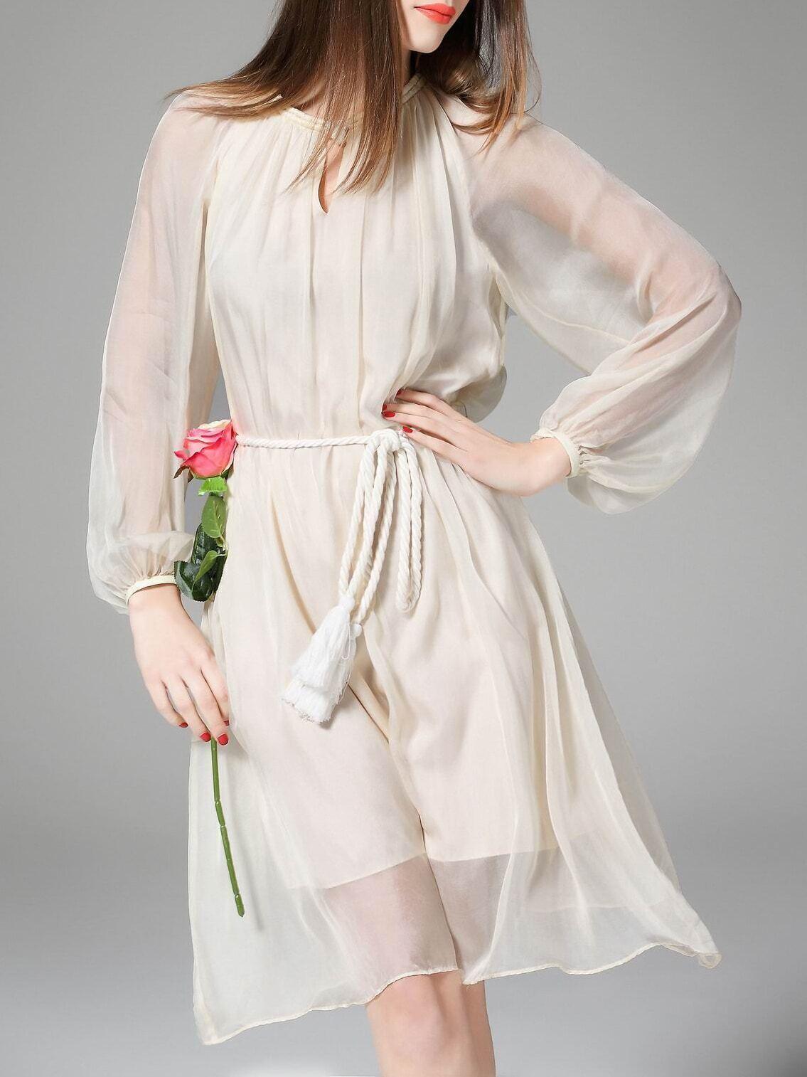 Платье Шифоновое Белое Купить