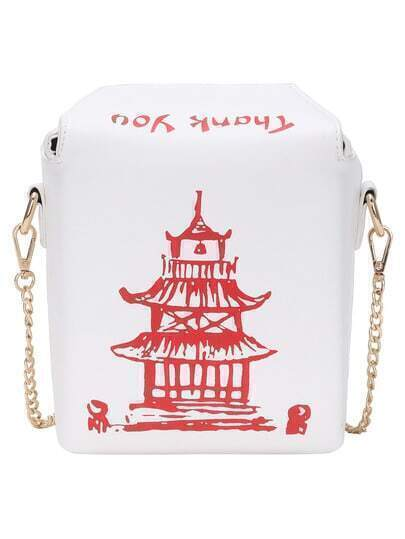 Chinese Takeout Box Chain Bag