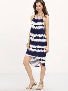 Tie Tye Striped Racerback Cami Dress