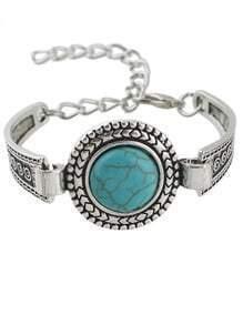 Round Turquoise Women Bracelet