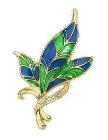 Colorful Enamel Flower Brooch