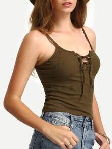Lace Up Tight Cami Top