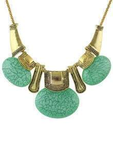 Green Turquoise Statement Collar Necklace