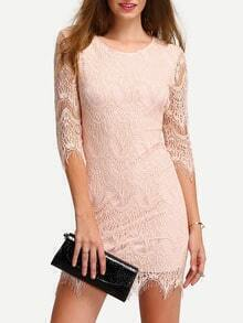 Elbow Sleeve Lace Bodycon Dress