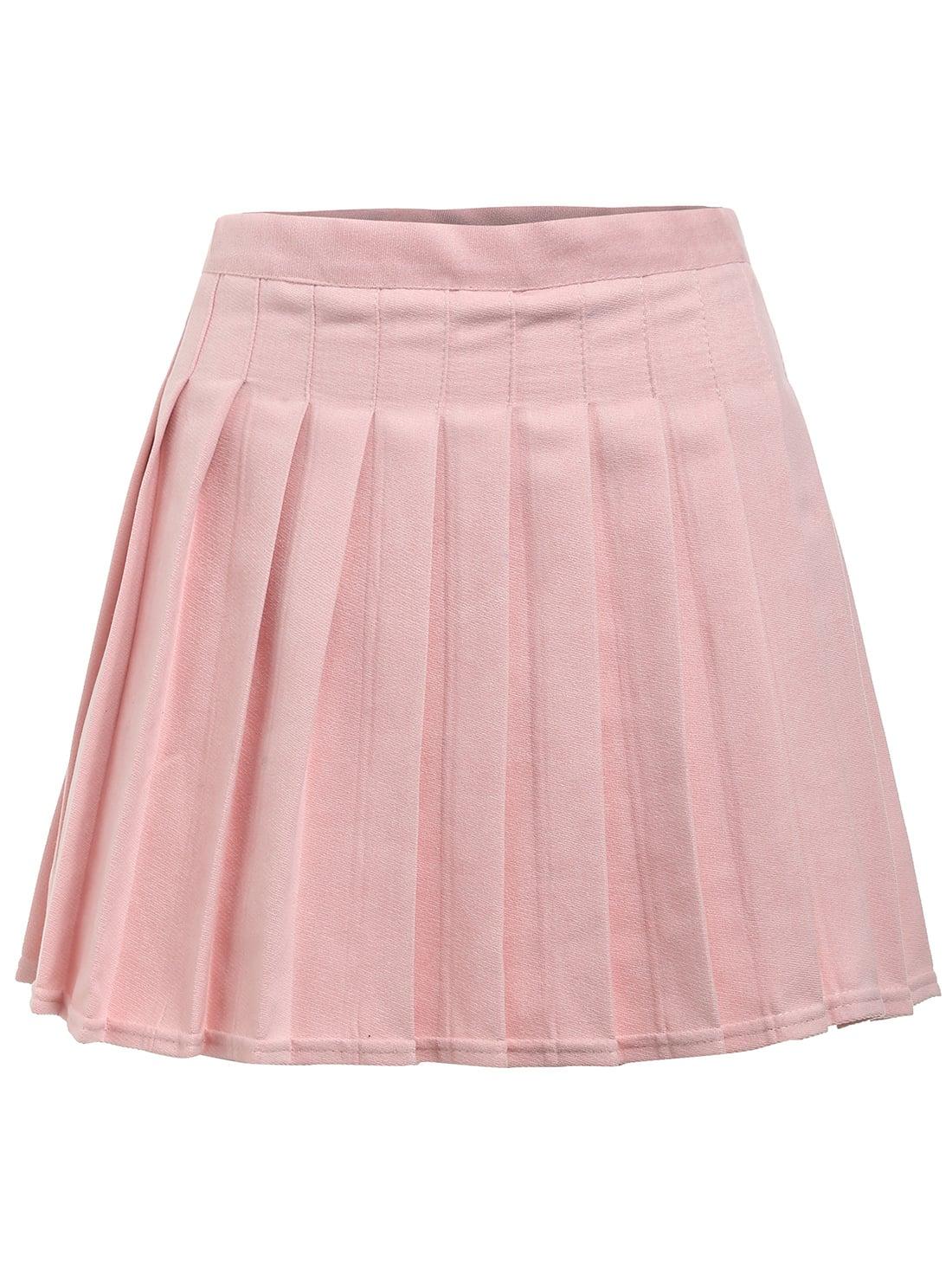 box pleat mini skirt shein sheinside