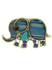 Green Enamel Elephant Animal Rings