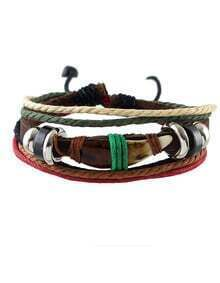 Multilayers Braided Pu Leather Bracelet