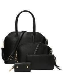 4PCS Structured Bag Set