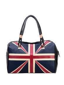 Union Jack Patch Bowler Bag