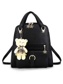 Embossed Multi-Way Structured Backpack -SheIn(Sheinside)