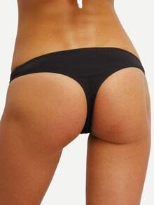 Plain Black Low-Rise Bikini Bottom