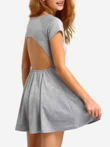 Back Cutout Skater Dress