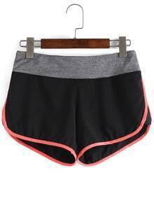 Contrast Trim Sports Shorts