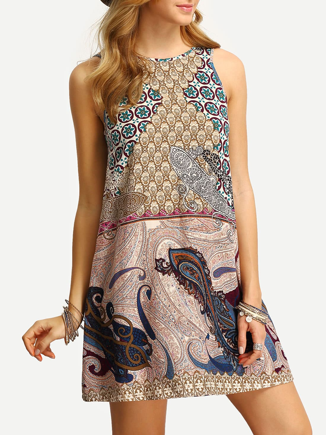 http://it.shein.com/Multicolor-Sleeveless-Vintage-Print-V-Back-Dress-p-273834-cat-1727.html