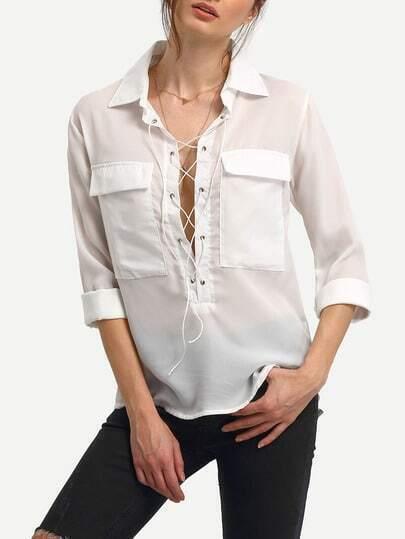 Купить Белую Шифоновую Блузку