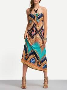 Halter Print Beach Dress