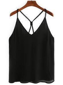 Knotted Back Chiffon Cami Top