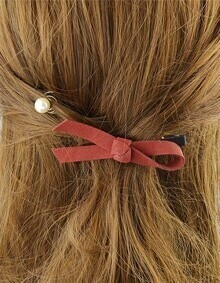 Red Bow Shape Hair Accessories