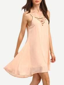 Crisscross V-Neck Swing Cami Dress